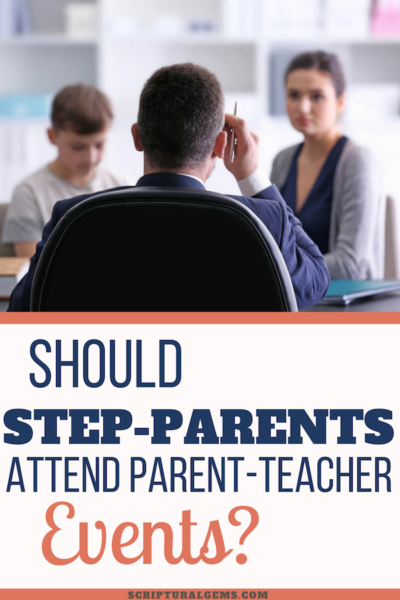 Stepmother Attending a Parent-Teacher Event with her step-son