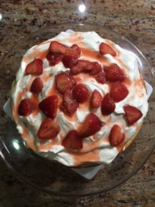 Home made strawberry shortcake