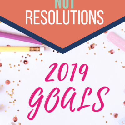 Set Goals Instead of New Year's Resolutions