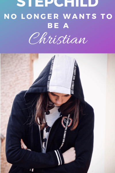 A sad teenager no longer wants to be a Christian