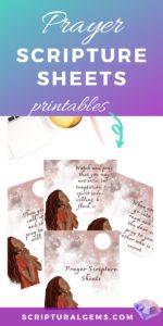 Prayer Scripture Sheets Printables